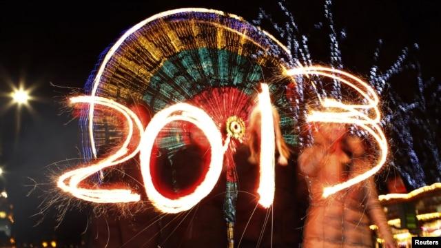 지난달 31일 스코틀랜드 에딘버러의 새해맞이 축제 현장.