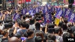香港數以萬計市民遊行反對港版中國國安法