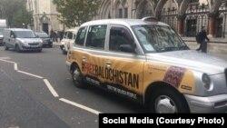 لندن کی ایک ٹیکسی پر پاکستان مخالف نعرہ