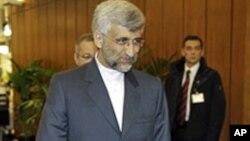 회담장에 들어서는 이란 협상 대표
