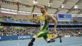 Oscar Pistorius akiwa kwenye michuano ya Olympic mjini London
