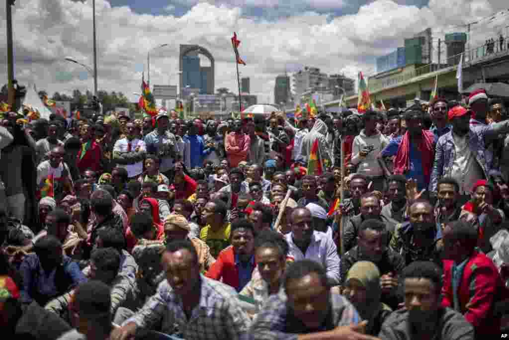 Simannaa hooggansa Adda Bilisummaa Oromoo Fulbaana 15, 2019 magaalaa Finfinneetti geggeessame.