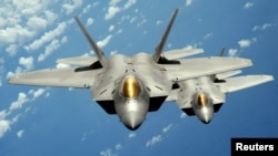 A dual U.S.-Iranian citizen faces sentencing for violating the Arms Export Control Act. The engineer had tried to leave the U.S. with sensitive information about engines for military aircraft such as the F-22 Raptor, shown in this U.S. Air Force photo.