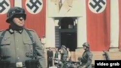 纳粹十字标记(视频截图)
