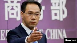 Người phát ngôn Bộ Thương mại TQ Cao Phong tại một họp báo, 6/4/2018