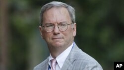 FILE - Executive Chairman of Google Eric Schmidt in London, July 26, 2012.