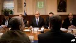 10일 예루살렘 총리관저에서 각료회의에 참석한 메냐민 네타냐후 이스라엘 총리. (자료사진)