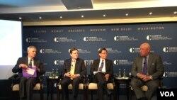 卡内基国际和平基金会举办台湾与TPP研讨会(美国之音钟辰芳拍摄)