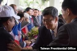 時任副總統的陳建仁出訪當時還是台灣友邦的多明尼加共和國(台灣總統府提供)