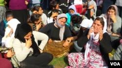 هزاران خانوادۀ ایزدی از ترس داعش به ترکیه فرار کرده اند