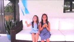 Niñas apoyan a damnificados de Guatemala