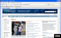 La página web de VOANoticias vista desde Firefox 3.5.