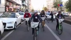 Diyarbakırlı Kadınlar Şiddete Karşı Pedal Çevirdi