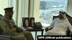 جنرل باجوہ کی دوحہ میں قطر کے وزیراعظم سے ملاقات