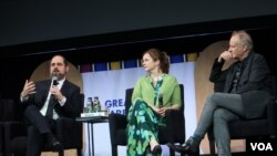 Крейг Мазин, Эмили Уотсон и Стеллан Скарсгард на фестивальной премьере. Photo: Oleg Sulkin