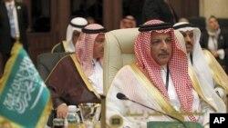 28일 아랍연맹 외무장관 회담에서 사우디 아라비아 대표.