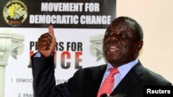 Movement For Democratic Change leader Morgan Tsvangirai.