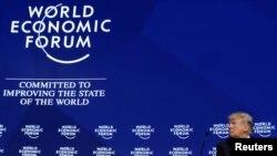 President AS Donald Trump dalam pertemuan tahunan World Economic Forum di Davos, Swiss, 26 Januari 2018.