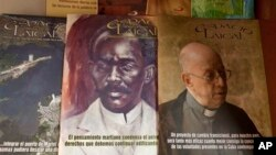 Issues of the Roman Catholic magazine 'Espacio Laical' exhibited for sale in a small shop in Old Havana, Cuba, June 25, 2014.