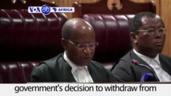 VOA60 Africa - South African Court Blocks Government's ICC Withdrawal Push