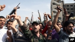 敘利亞人民示威抗議。