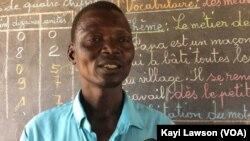 Feldia Namlidi, directeur de l'EPP Louanga, Togo, 23 mai 2017. (VOA/Kayi Lawson).