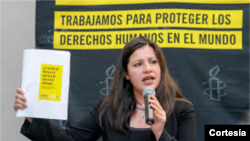 Erika Gueva Rosas dialoga sobre los derechos humanos y el informe de Amnistía Internacional