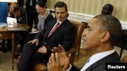 Los presidentes de México, Enrique Peña Nieto, y de Estados Unidos, Barack Obama, se reúnen este jueves en Ciudad de México.