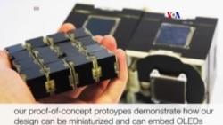 Cubos de pantallas electronicas en cadena