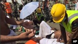 Imagen publicada en Twitter por la Defensa Civil de Arabia Saudita, sobre el incidente en La Meca.
