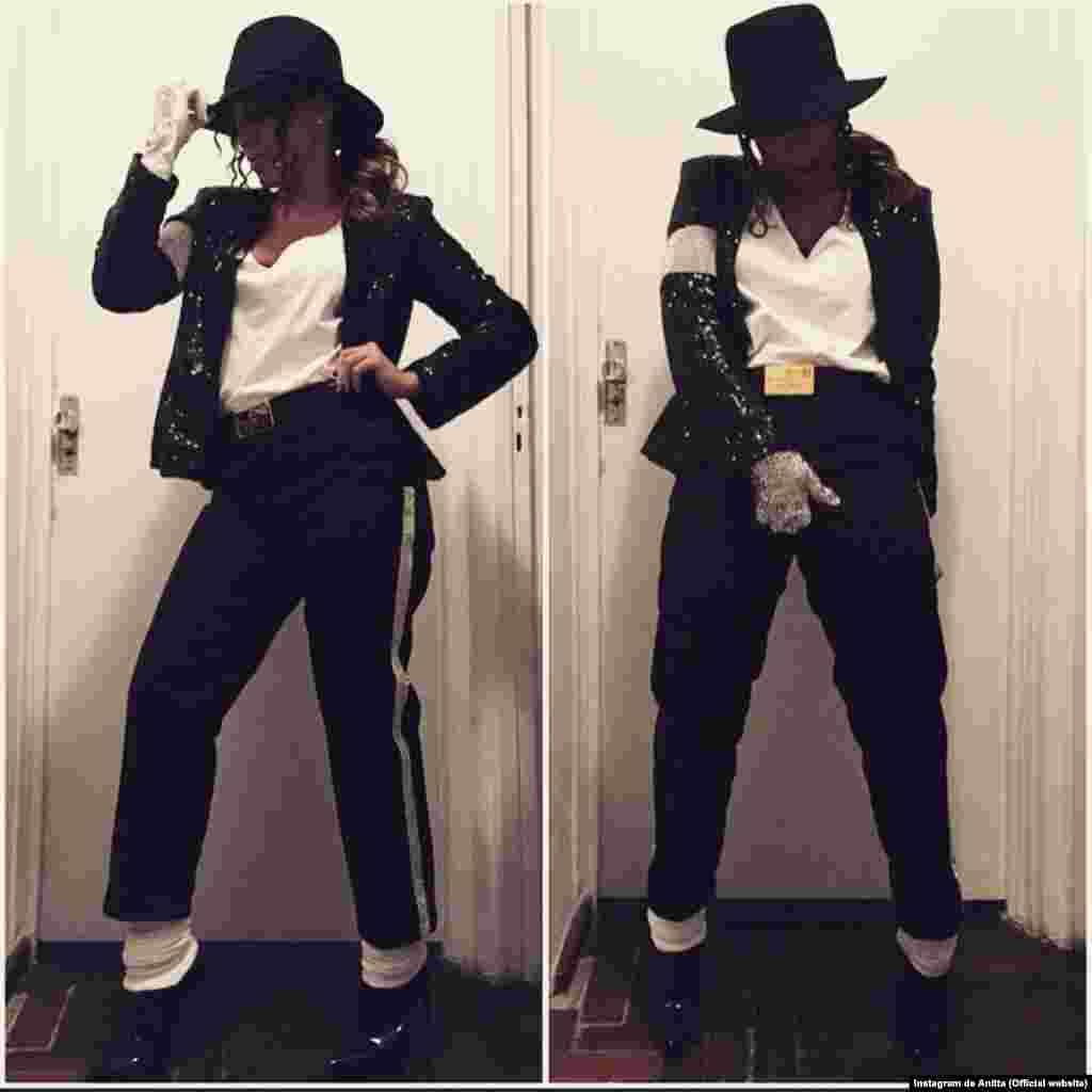 A cantora Anitta vestiu-se de Michael Jackson para o famoso Baile da Vogue, no dia 6.