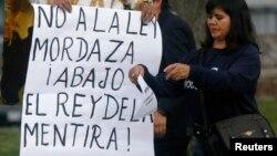 Las protestas contra la Ley de Comunicación son recurrentes en las calle de Ecuador.