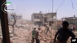 Des destructions à Qousseir, en Syrie