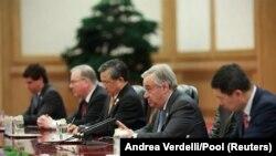 Tổng thư ký Liên Hiệp Quốc Antonio Guterres hội đàm với Chủ tịch Trung Quốc Tập Cận Bình ở Bắc Kinh