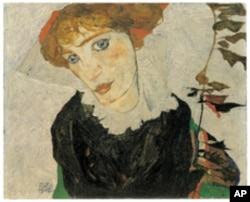 Egon Schiele, Portrait of Wally Neuzil, 1912, Oil on wood, 32,7 x 39,8 cm, Inv_Nr453, Leopold Museum, Vienna