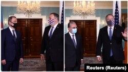 在纳卡冲突之际,美国国务卿蓬佩奥在国务院分别会晤亚美尼亚外长姆纳察卡尼扬与阿塞拜疆外长巴伊拉莫夫。
