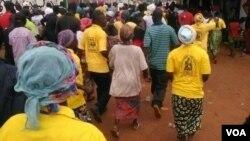 Uma anterior manifestação do Movimento do Protectorado da Lunda Tchokwe (foto de arquivo)