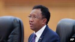 Le président du Madagascar Hery Rajaonarimampianina, 27 mars 2017.