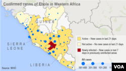 Confirmed Cases of Ebola in West Africa