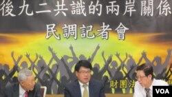 台湾民意基金会公布了一项两岸关系的最新民调(美国之音张永泰拍摄)