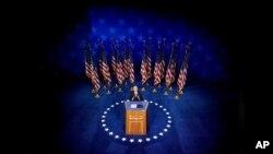 Predsednički kandidat Demokratske stranke Džo Bajden govori u Vilmingtonu, u Delaveru ( Foto: AP/Andrew Harnik)