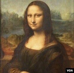Lukisan karya Leonardo da Vinci paling terkenal, Mona Lisa, yang kini disimpan di Museum Louvre, Paris.