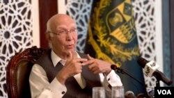 Sartaj Aziz, ketua penasehat kebijakan luar negeri PM Pakistan (Foto: dok).