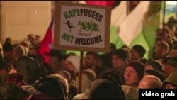 德國反移民團體舉行街頭抗議(VOA視頻截圖)