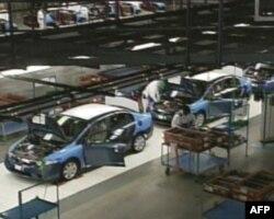 弗林特市汽车工厂装配线(资料)