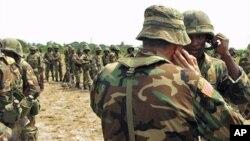 利比里亞維和部隊。