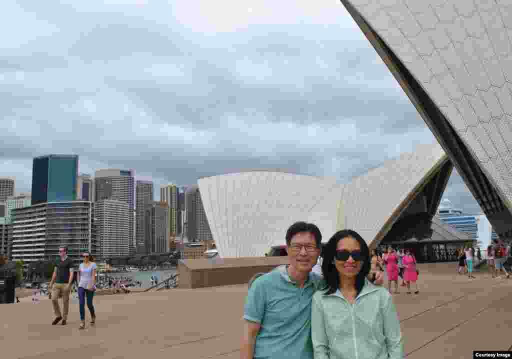 Opera House, nhà hát hình con sò, là biểu tượng của nước Úc. (Ảnh: Bùi Văn Phú)