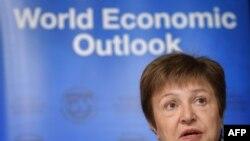 Директор-распорядитель МВФ Кристалина Георгиева на Международном экономическом форуме в Давосе. 20 января 2020.