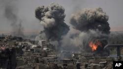 Dîmenên bombebaran bajarê kevin yê Mûsil