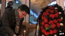 Domodedovo hava limanında baş vermiş partlayışın qurbanlarının xatırəsi yad edilib